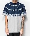 Champion Streak Dye Grey & Navy T-Shirt