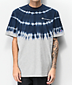 Champion Streak Dye camiseta gris y azul marino