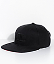 Champion Super Fleece Black Snapback Hat