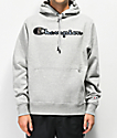 Champion Super Fleece sudadera con capucha gris