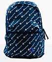 Champion Supercize Blue Allover Script Mini Backpack