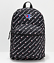 Champion Supercize Logo Script Black Backpack