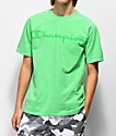 Champion T0336 Heritage Script Green T-Shirt