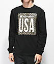 Champion T3822 Heritage Black Long Sleeve T-Shirt