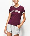 Champion Tiny Burgundy Crop T-Shirt