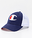 Champion Twill Mesh Navy Snapback Hat