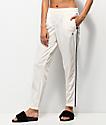 Champion White & Striped Track Pants