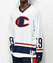 Champion White Long Sleeve Hockey Jersey