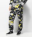 Champion Yellow, Grey & Black Camo Super Fleece Sweatpants