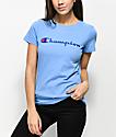 Champion camiseta azul claro con logotipo
