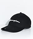 Champion gorra de sarga negra con bordado