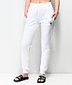 Champion pantalones deportivos blancos de tejido inverso