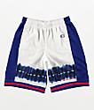 Champion shorts de baloncesto en blanco y azul surf