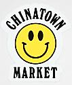 Chinatown Market Yellow Smiley Sticker
