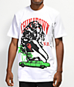 Chinatown Market x Nevermade Burning Bills camiseta blanca