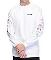 Chocolate Floral Chunk camiseta blanca de manga larga