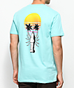Chomp Prawn Trees camiseta en menta