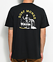 Chomp Surf Mongo camiseta en negro y color amarillo