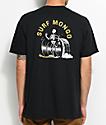 Chomp Surf Mongo camiseta en negro y color amarillo