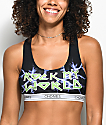 Chonies Rock My World Black Sports Bra