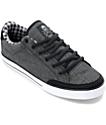 Circa Lopez 50 Black Denim & White Skate Shoes