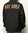 City Chapters Bay Area chaqueta entrenador negra y naranja