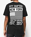 City Chapters New York Stack camiseta negra