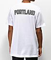 City Chapters Portland Checkered camiseta blanca