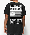 City Chapters Portland Stack camiseta negra