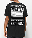 City Chapters Seattle Stack camiseta negra