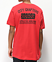 City Chapters Spokane Rose camiseta roja