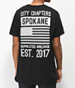 City Chapters Spokane Stack camiseta negra