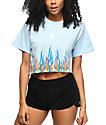 Civil Litty camiseta corta en azul claro