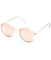 Clubmaster gafas de sol en color oro rosa