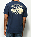 Concrete Native Explore Mountains Navy T-Shirt