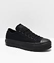 Converse CTAS Clean Lift Ox zapatos negros con plataforma