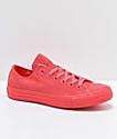 Converse CTAS Ox Mono Pink Suede Shoes