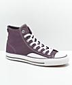 Converse CTAS Pro Hi Purple & White Canvas Skate Shoes
