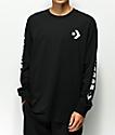 Converse Chevron Star Black Long Sleeve T-Shirt