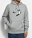 Converse Cons Star Chevron Athletic Grey Pullover Hoodie