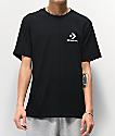 Converse Left Chest Star Black T-Shirt