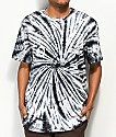 Converse Multi-Graphic Black & White Tie Dye T-Shirt