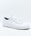 Converse One Star CC All White Leather Skate Shoes