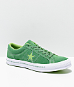 Converse One Star Pinstripe Mint Green, Jade Lime & White Skate Shoes