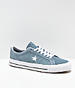 Converse One Star Pro Celestial Teal & White Skate Shoes