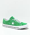 Converse One Star zapatos de skate en verde y blanco