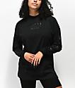 Converse Stencil Black Mock Neck Long Sleeve T-Shirt