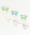 Converse Vintage 3 Star 3 Pack White Crew Socks