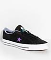 Converse x Dinosaur Jr. One Star Pro Black & Purple Skate Shoes