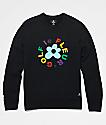 Converse x Golf Wang Le Fleur Black Crew Neck Sweatshirt
